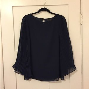 Collective Concepts Navy Long Sleeve Top